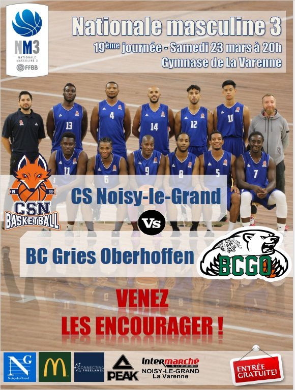 Nationale 3 - CSNB vs Gries